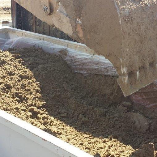 Hydrovac mud after treatment w MF006