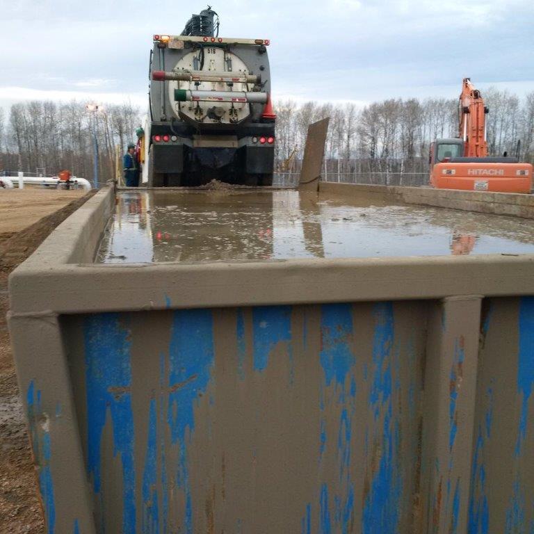 hydro excavations metaflo site mud