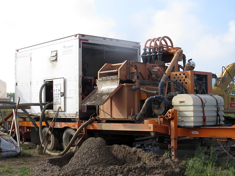 Aecon HDD Mud Solidification in Multiple Bore Project