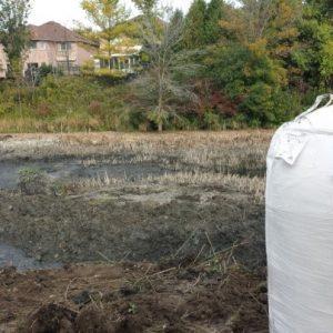 storm water pond sediment