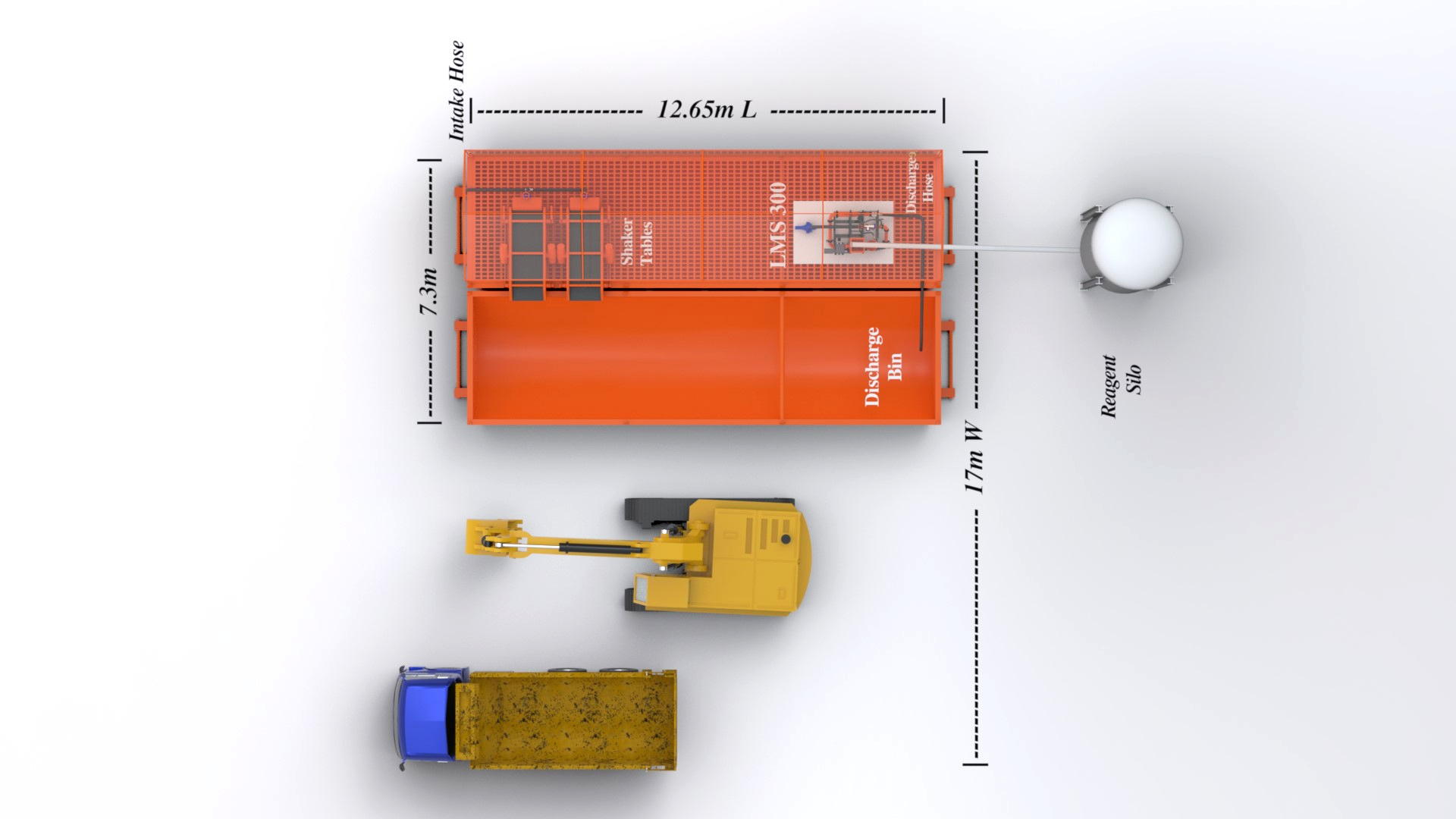 Site Layout - LMS 300 General - Overhead - with labels