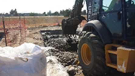 utilities dirt solidification